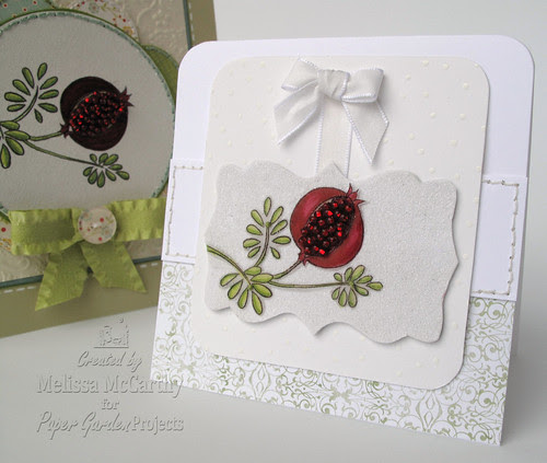 Paper Garden Projects white pomegranite card mel stampz