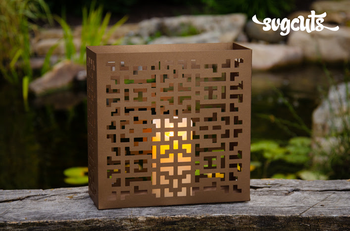SVGCuts | Geo Tile Lantern
