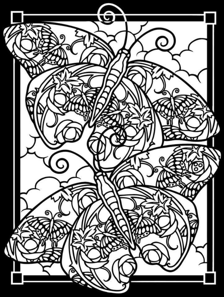 Get This Difficult Butterfly Coloring Pages for Adults ...