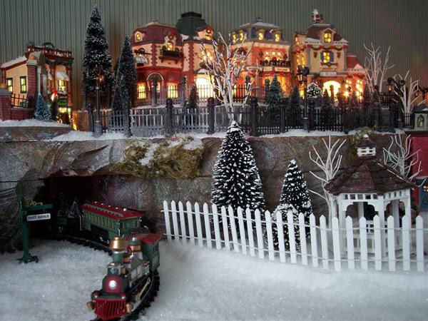 Department 56 Christmas Village Display Ideas Water Mountains