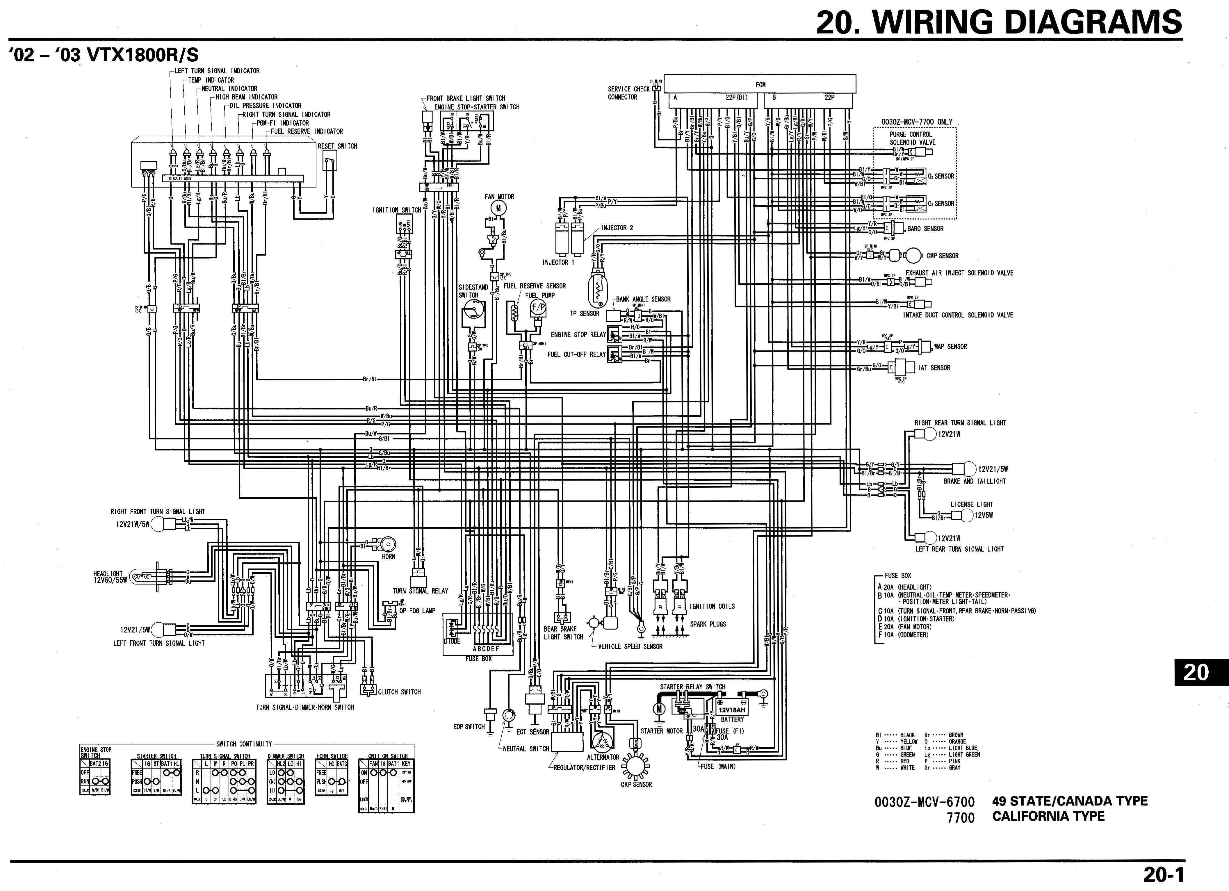 honda vtx 1800 c wiring diagram image 2