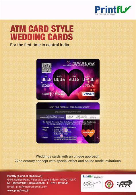 ATM CARD STYLE WEDDING INVITATION CARDS   Printing