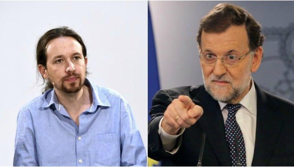 Resultado de imagen de Guerra entre rajoy y pablo Iglesias