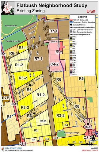 DCP Flatbush Neighborhood Rezoning Existing Zoning