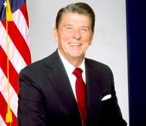 Ronald Reagan poses for a portrait in 1980 in Los Angeles, California.