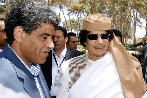 Former Libyan Defense Minister Abdullah Senussi was reportedly arrested in Mauritania on March 18, 2012. He is pictured here along with the late Col. Muammar Gaddafi. Libya was targeted in an imperialist war against the North African state during 2011. by Pan-African News Wire File Photos