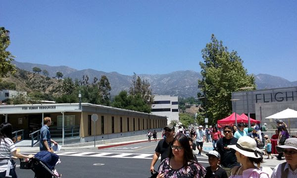 A clear and sunny day to visit NASA's Jet Propulsion Laboratory near Pasadena, California...during Explore JPL on June 9, 2018.