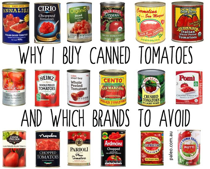 Canned tomatoes tinned BPA tomato paleo diet brands fresh min