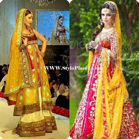 Mayoun/Mehndi Latest Dresses for Bridals 2017   Stylo Planet