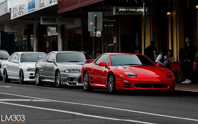 Mitsubishi GTO + Skyline R33 GTR + Skyline ER34 4 door GT-T