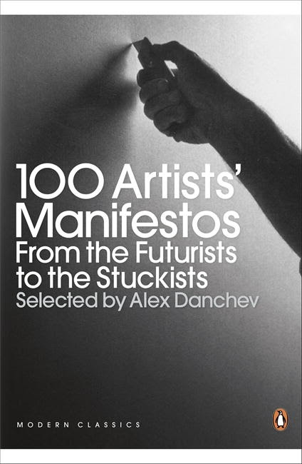 Book Cover:  100 Artists' Manifestos: From the Futurists to the Stuckists