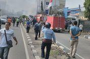 Bus AKAP Terbakar di Jalan S Parman