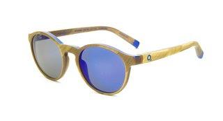 Klein Blue Sunglasses – Round Gold, by Yves Klein
