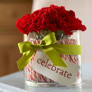Peppermint Stick Centerpiece