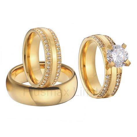 China wholesaler beautiful custom gold color 3 pieces