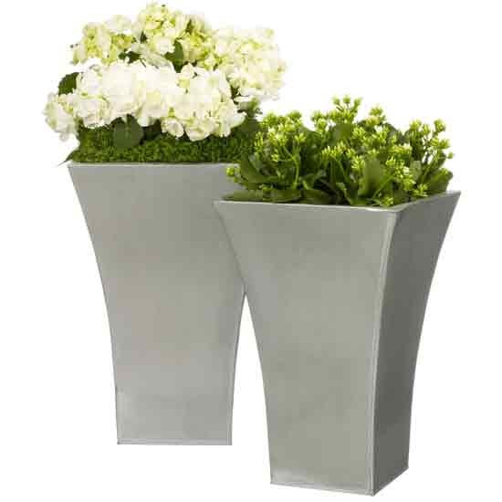 Flared Titanium planters from John Lewis   Outdoor pots   Plant ...