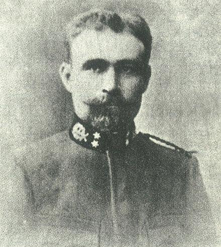 Φωτογραφία, του 1900, με τη στολή του υπιάτρου