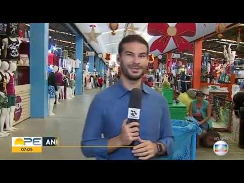 Grande movimentação na feira de domingo no Moda Center é destaque no Bom Dia PE