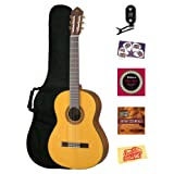 Yamaha CG162S Spruce Top Classical Guitar Bundle with Gig Bag, Tuner, Instructional DVD, Strings, Pick Card, and...