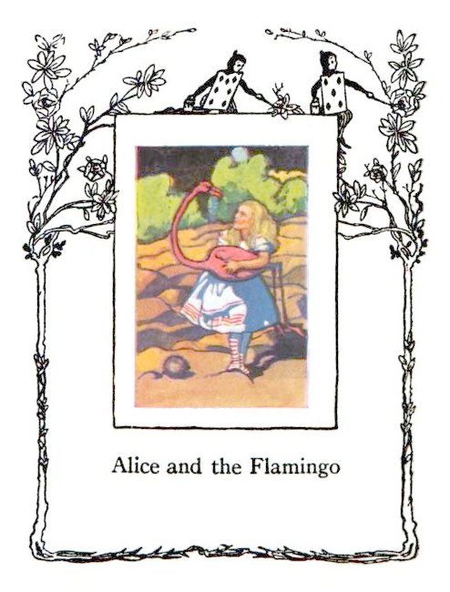 Alice In Wonderland Vintage Frame Lucky Palm Graphics