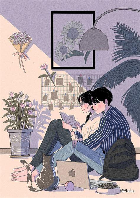 confessing cute drawings  love cute couple art love