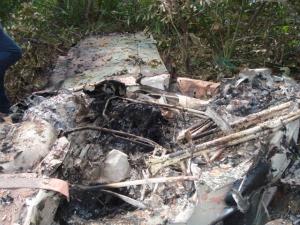 Avião cai e pega fogo no Pantanal em Corumbá (Foto: Polícia Civil/Corumbá)