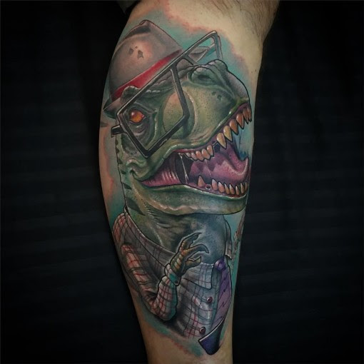 Hipster T-Rex Tattoo | Best Tattoo Ideas Gallery