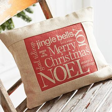 Christmas Words Pillow