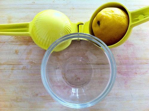 1/2 Lemon in Juicer