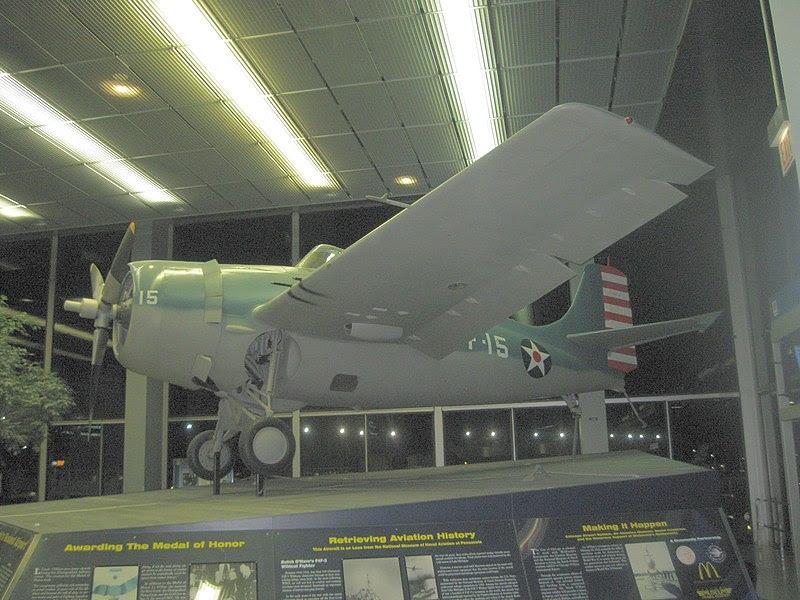 File:Edward Butch O'Hare's Aircraft on display at ORD.jpg