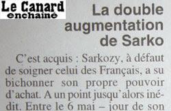 Double augmentation de Sarkozy