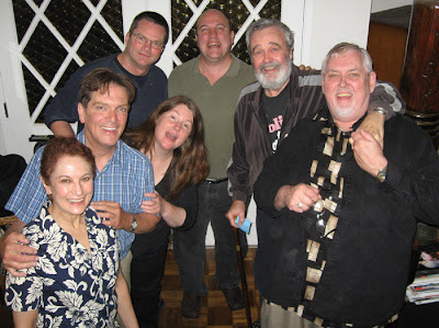 Amy Dondy, James Brewer, New Conservatory Board member Caitlin Morgan, her husband Patrick Irwin, Norman Anderson, his partner Houston Allred, and Jim Brochu.