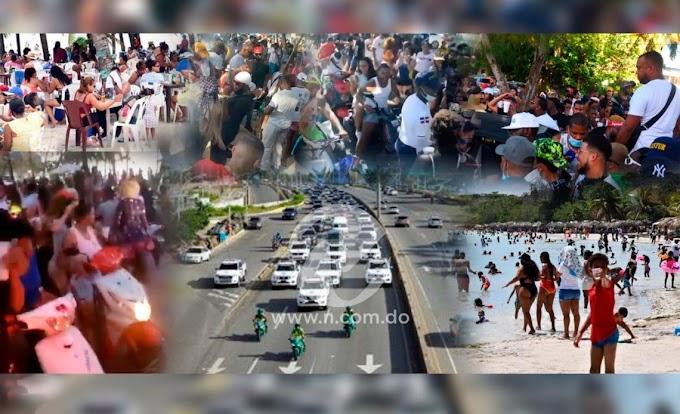 3 MILLONES DE PERSONAS SE MOVILIZARON EN RD EN SEMANA SANTA, DESAFIANDO PROTOCOLO COVID