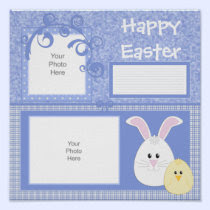 Blue Easter Bunny Scrapbook Page