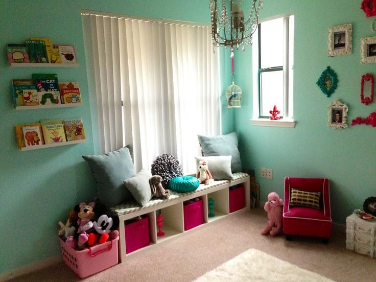 Girls Playroom - Kids Window Seat   Playroom Ideas   Pinterest