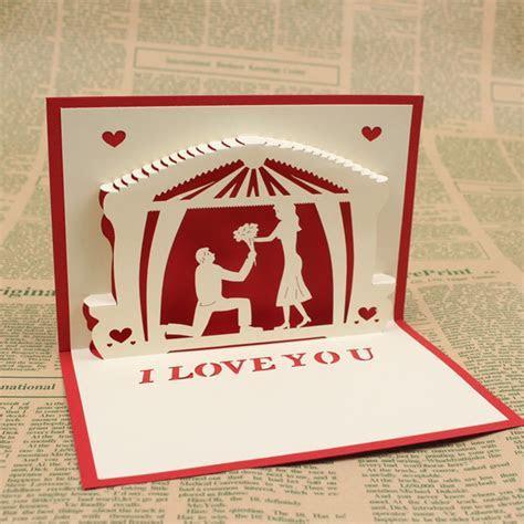3D Pop Up Handmade Greeting Cards Valentine Wedding
