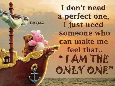 Wonderful Love Quote I Dont Need A Perfect One Inspirational