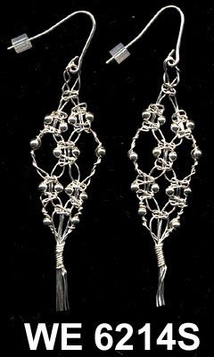 [wire macrame earrings]