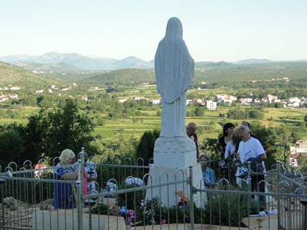 Our Lady stands watch over the valley of Medjugorje