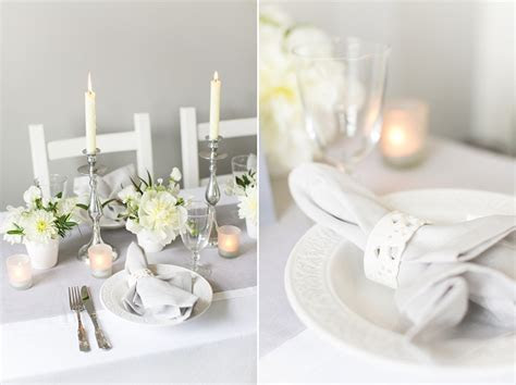 Luxury white & grey wedding table setting inspiration from