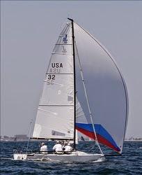 Dave Ullman sailing J/70- winning Long Beach Race Week