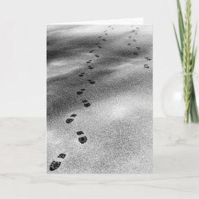 Footprints in Snow Card