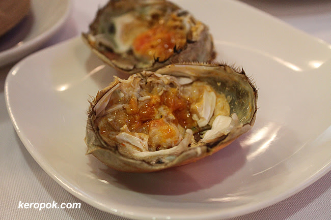 The shell and the crab roe