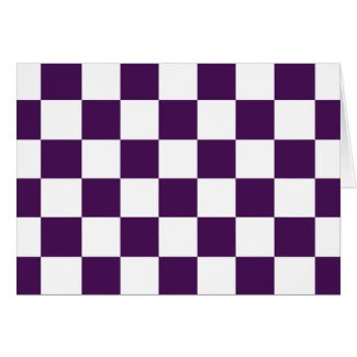 Checkered Purple and White Cards