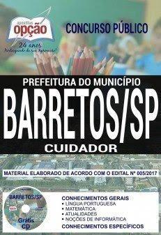 Apostila Concurso Prefeitura de Barretos 2018 | CUIDADOR