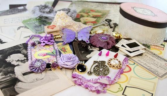Lavender Dreams Project Scrapbook Embellishment KIT