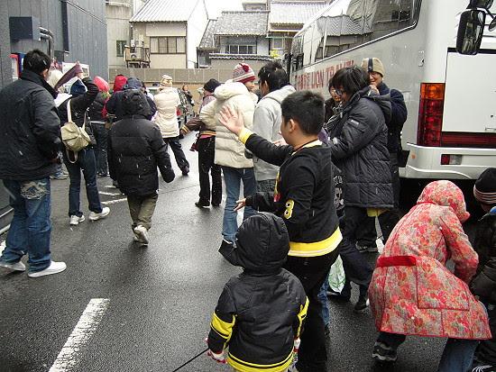 到日本遇到第一場雪
