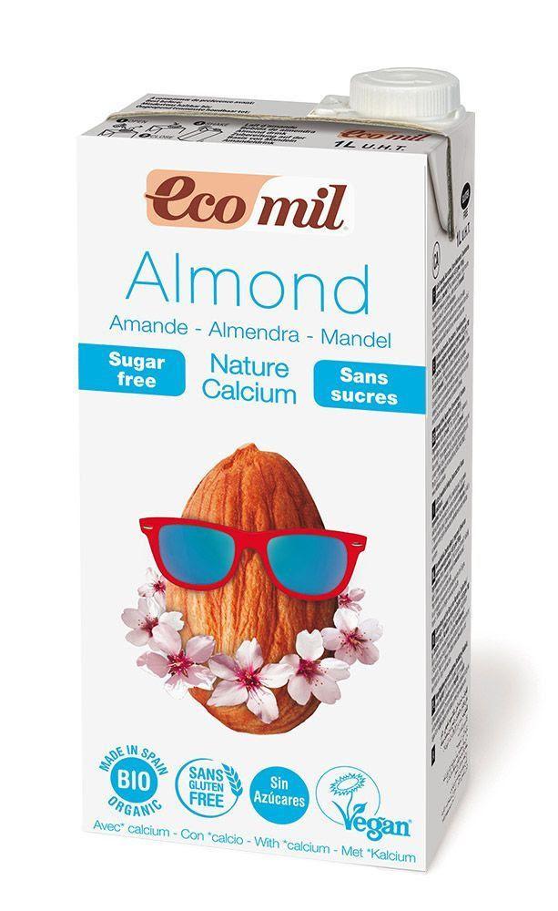 Ecomil leche de almendra Bio nature sin azúcar calcium 1L