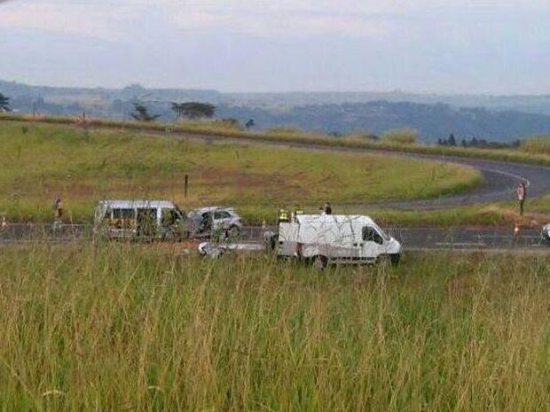 Acidente foi na Rodovia Comandante João Ribeiro de Barros  (Foto: Divulgação/ Visão Notícias )