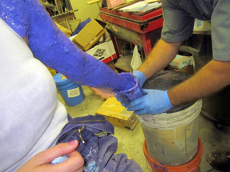 Dipping Hand in Silicone